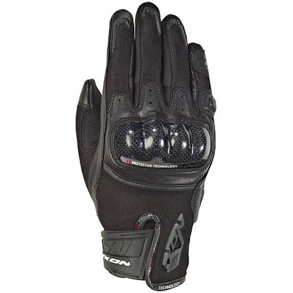 Ixon RS RISE AIR leather and tex summer gloves Black