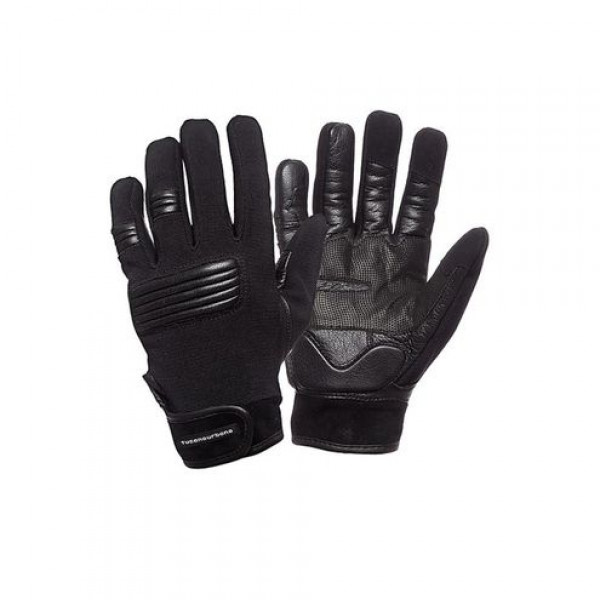 Tucano Urbano leather and tex summer gloves Rob black
