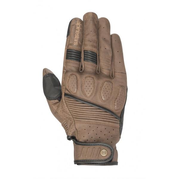 Alpinestars CRAZY EIGHT leather summer gloves brwon black