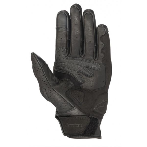 Alpinestars MUSTANG V2 leather summer gloves black white