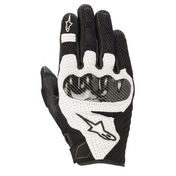 Alpinestars SMX-1 AIR V2 leather summer gloves black whte