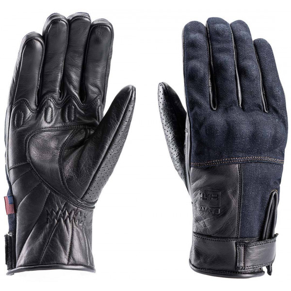 Blauer leather summer gloves Combo Denim black