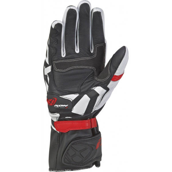 Ixon RS CIRCUIT 2 leather summer gloves Black White Red