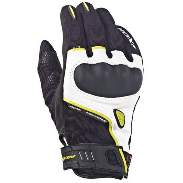 Ixon Rs Grip HP Summer Leather Gloves Black Yellow