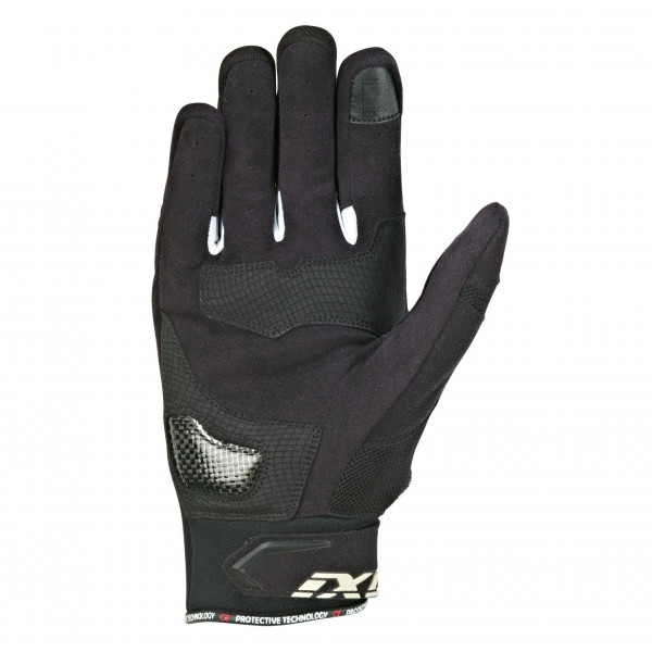 Ixon RS LOOP 2 leather summer gloves Black White