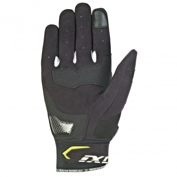 Ixon RS LOOP 2 leather summer gloves Black Yellow White