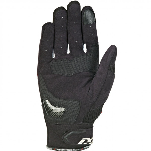 Ixon RS LOOP 2 leather summer gloves Black Red White