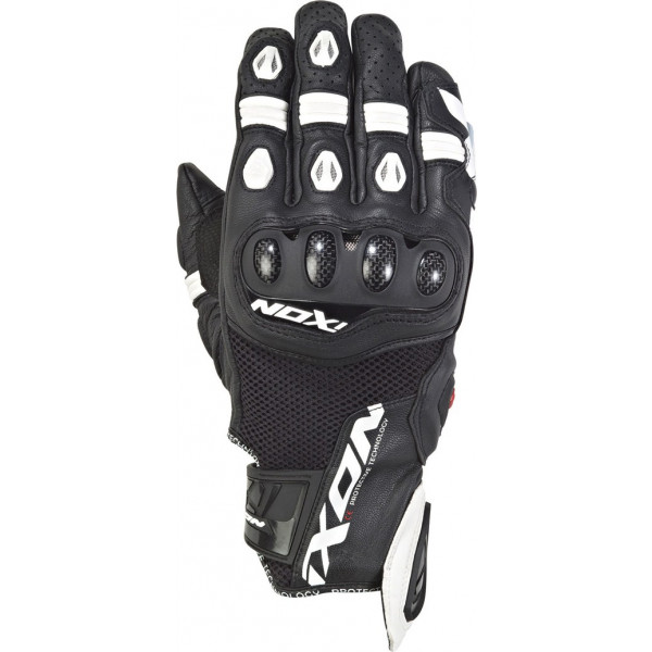 Ixon RS RECALL leather and tex summer gloves Black White