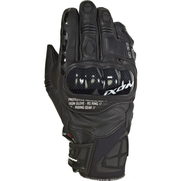 Ixon RS RING leather and tex summer gloves Black