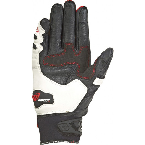 Ixon RS RING leather and tex summer gloves Black White Red