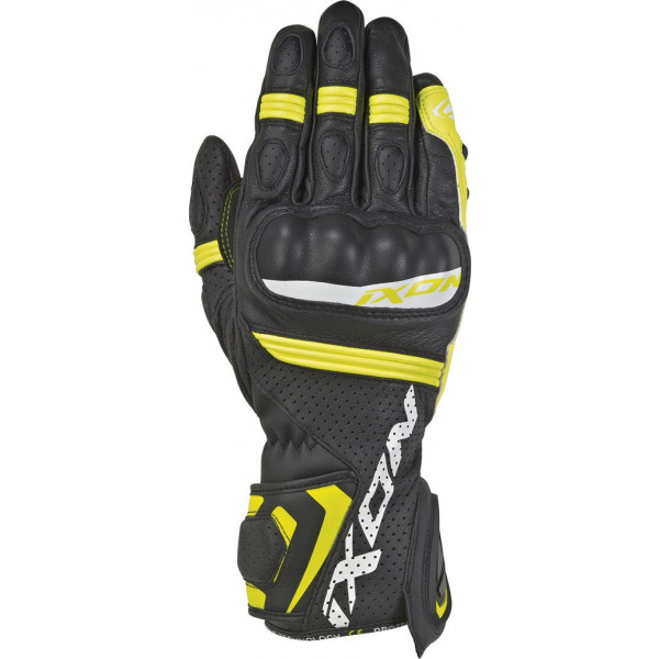 Ixon RS TEMPO AIR leather summer gloves Black Bright Yellow