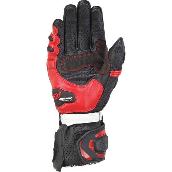 Ixon RS TEMPO AIR leather summer gloves Black Red