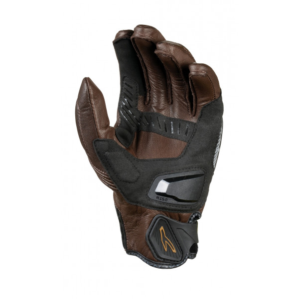 Macna leather summer gloves Outlaw black brown