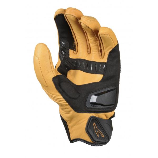Macna leather summer gloves Outlaw black light brown