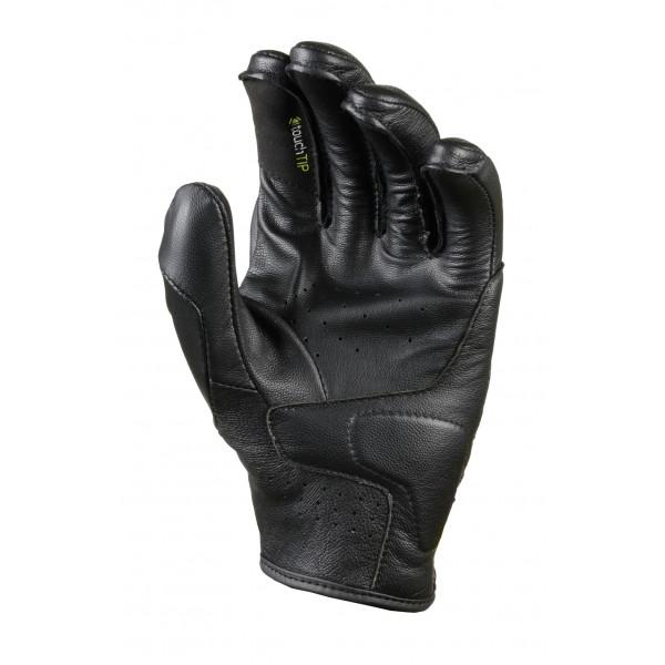 Macna leather summer gloves Saber black