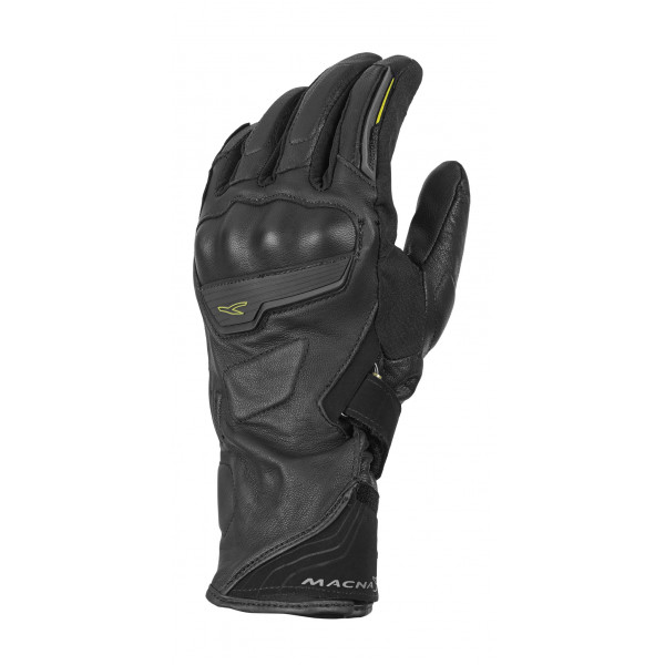 Macna leather summer gloves Solid OutDry WP black