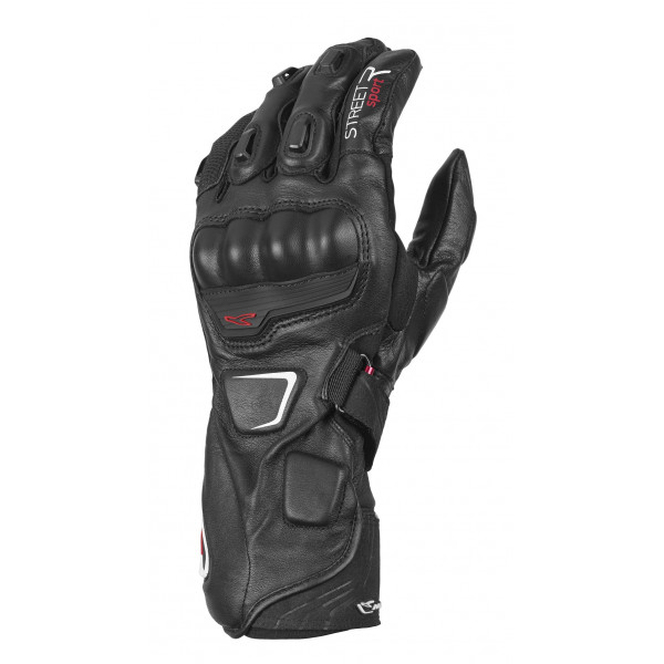 Macna leather summer gloves Street R with Kevlar reinforcements black
