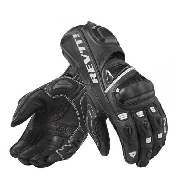 Rev'it Jerez 3 leather summer leather gloves Black White