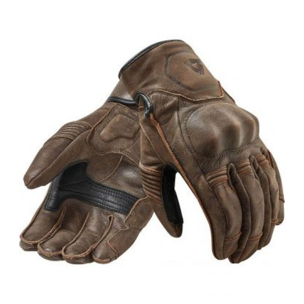 Rev'it Palmer leather summer gloves Tobacco