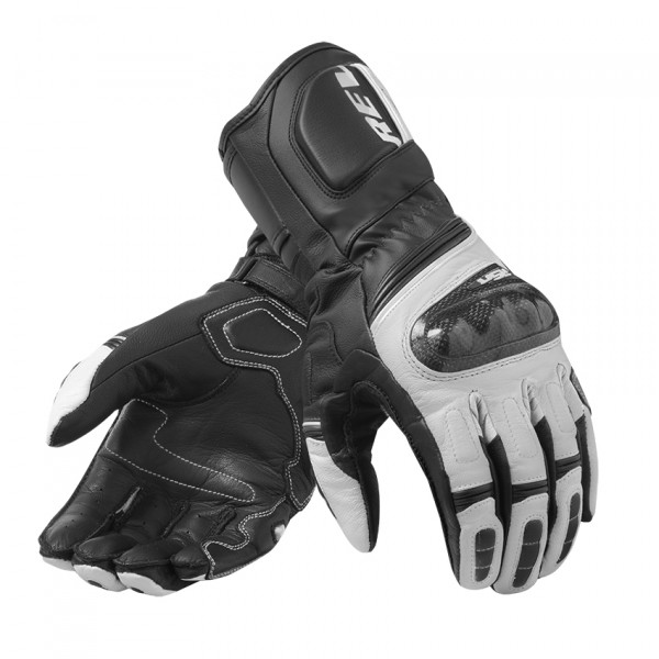 Rev'it RSR 3 leather summer gloves Black White