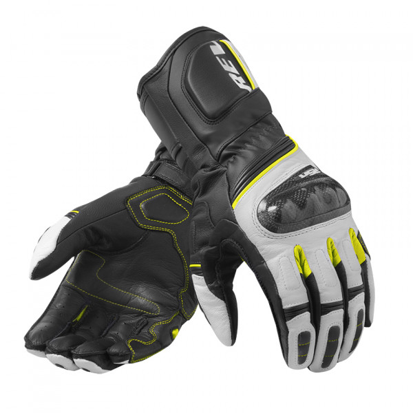 Rev'it RSR 3 leather summer gloves Black Yellow Neon