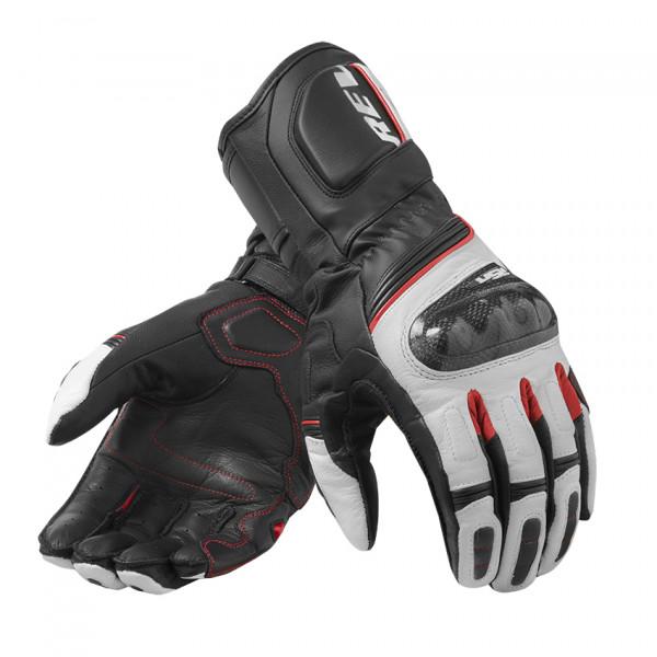 Rev'it RSR 3 leather summer gloves Black Red