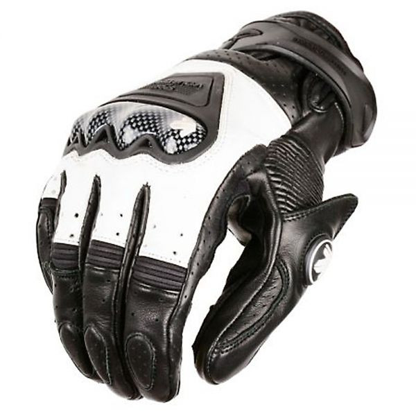 VQuattro RC-01 summer leather motorcycle gloves black white