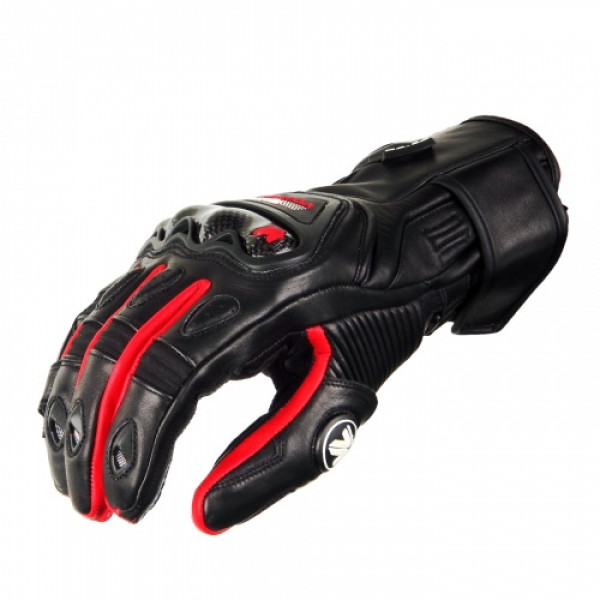 VQuattro RC-02 summer leather motorcycle gloves black red