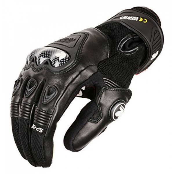 VQuattro SP-02 summer leather motorcycle gloves black