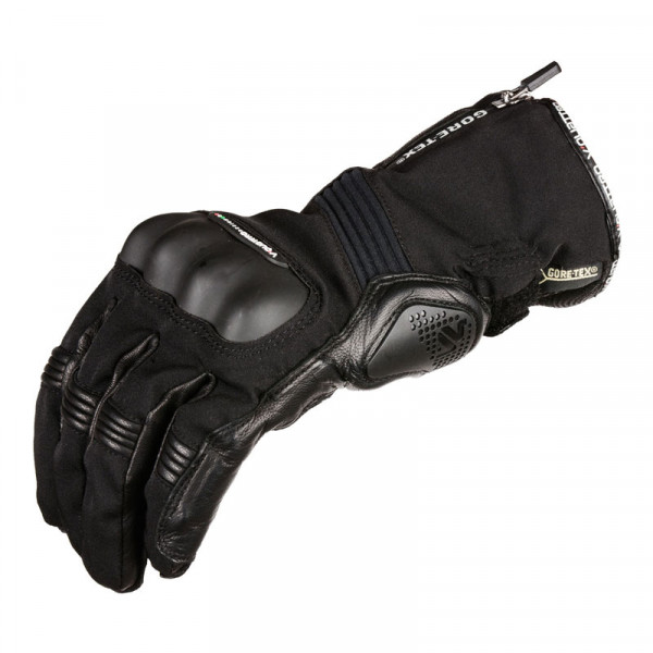 VQuattro STORMER XGTX summer leather motorcycle gloves black