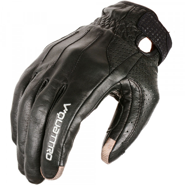 VQuattro VINTACO summer leather motorcycle gloves black