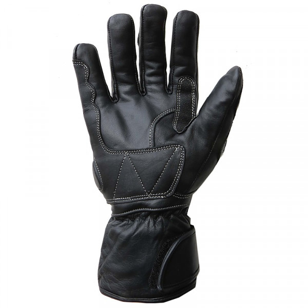 MGP leather winter gloves Black