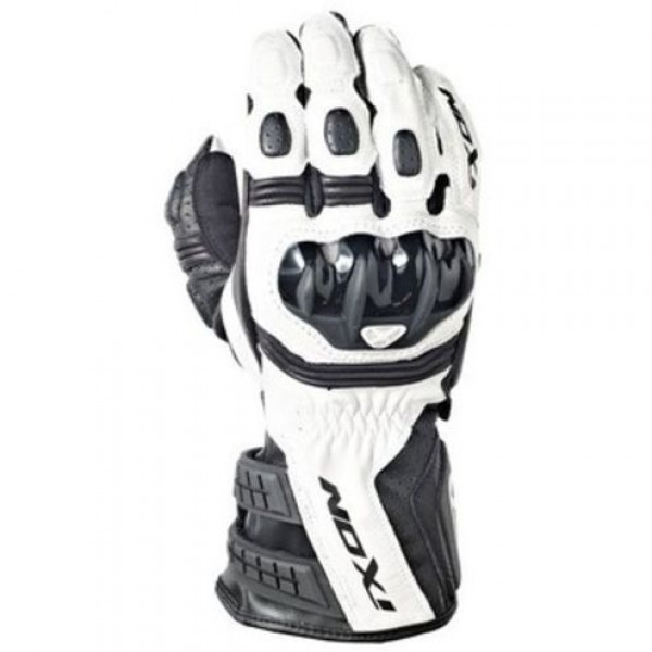 Ixon RS Moto HP Leather motorcycle Gloves White