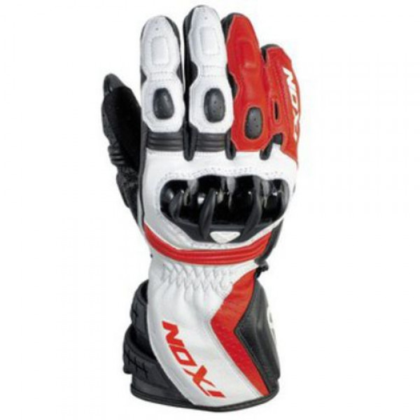 Ixon RS Moto HP Leather motorcycle Gloves Black White Red