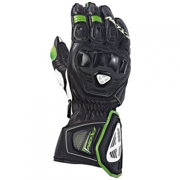 Ixon RS PRO HP Leather Gloves Black Green