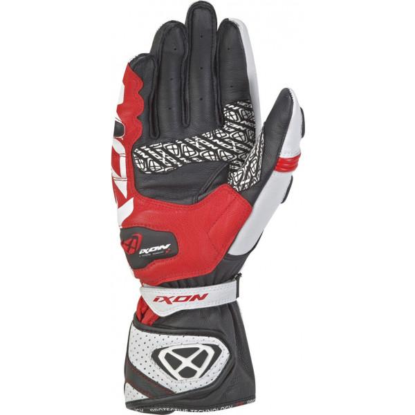Ixon RS TILT leather gloves Black White Red