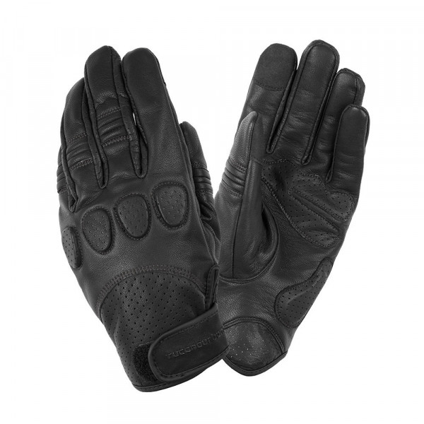 Tucano Urbano Gig Pro leather motorcycle gloves black