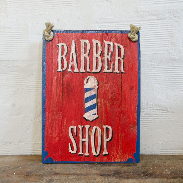 Berider Barber Shop Wood Sign
