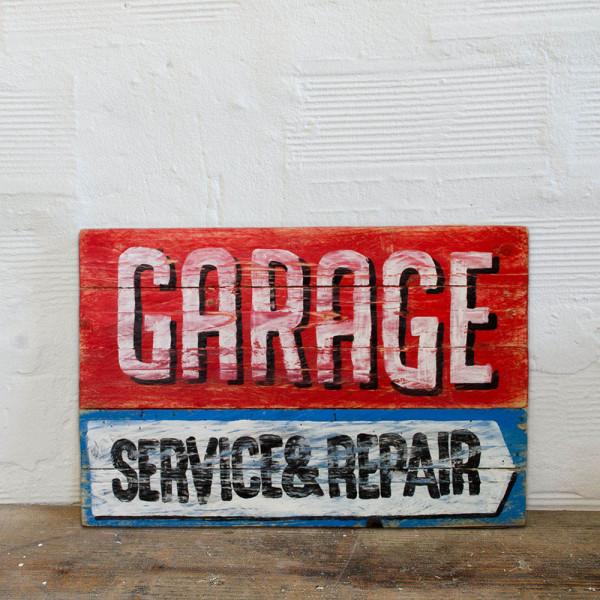 Berider Garage Service e Repair Wood Sign