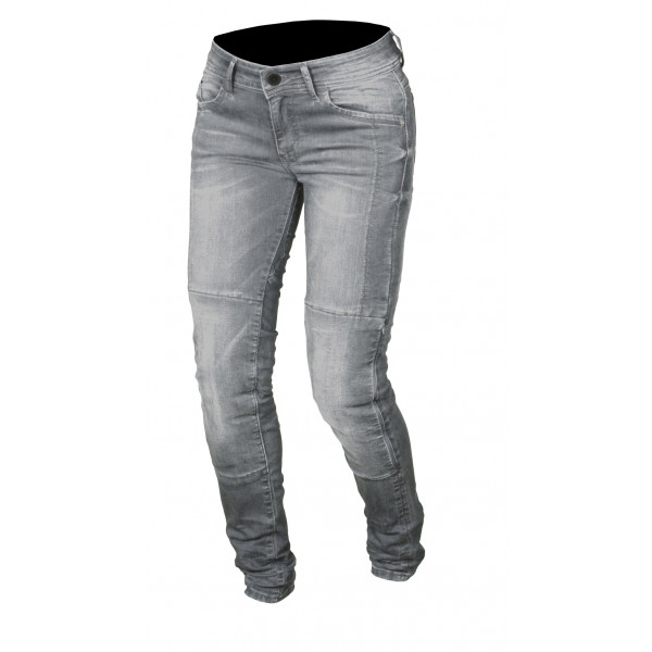 Macna woman jeans Jenny with Kevlar reinforcements grey