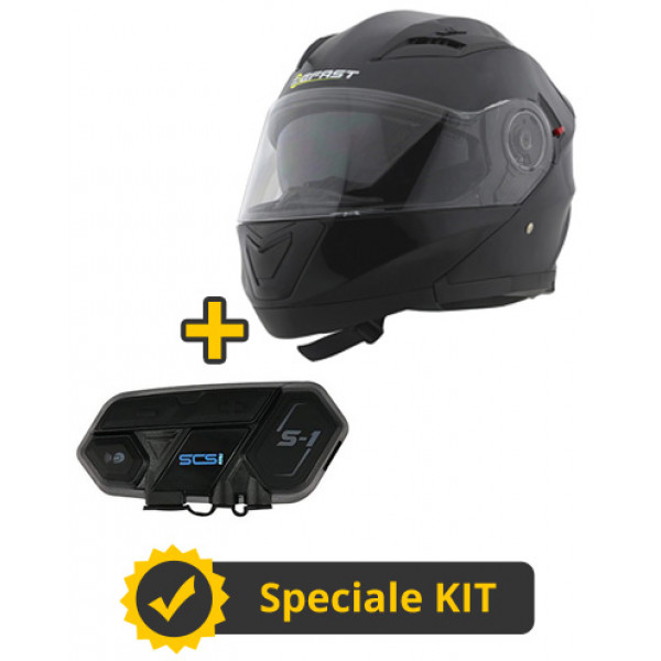 Kit Way S1 - Casco modulare Befast Modular Way + Interfono SCS S-1 singolo