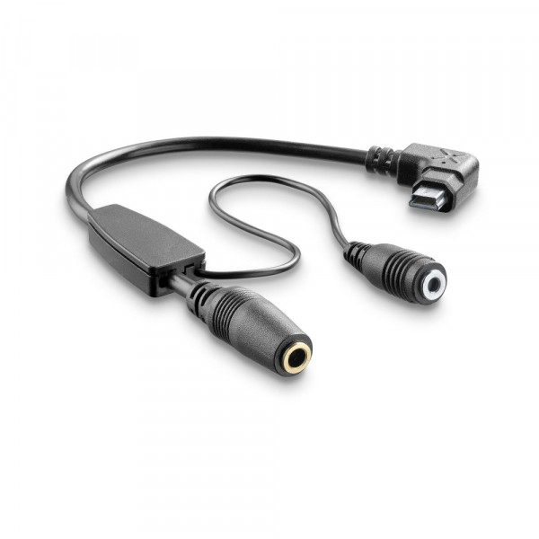 Cellular Line Adapter cable for headset 3,5mm for Interphone with microphone Tour - Sport and Urban