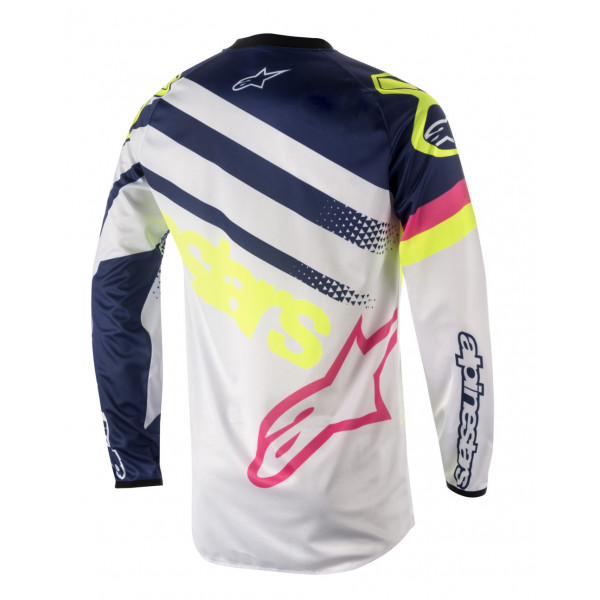 Alpinestars cross jersey Recer Supermatic white dark blue yellow