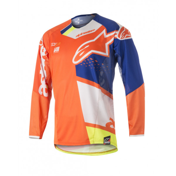Alpinestars cross jersey Techstar Factory orange blue white yellow