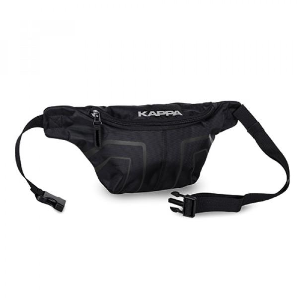 Kappa LH211 Waist Bag black with reflective logo