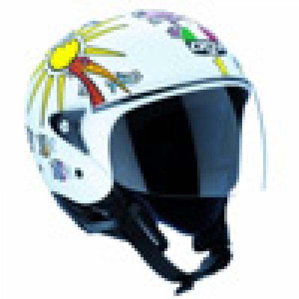 Agv New Bali White Zoo jet helmet