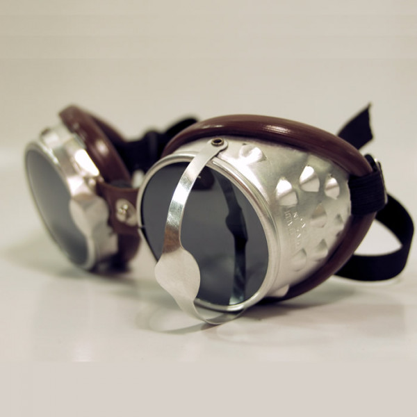 Motorcycle goggles Baruffaldi 101 Sar Leather Chocolate