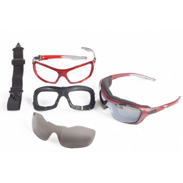 Motorcycle goggles Baruffaldi An May imperial red