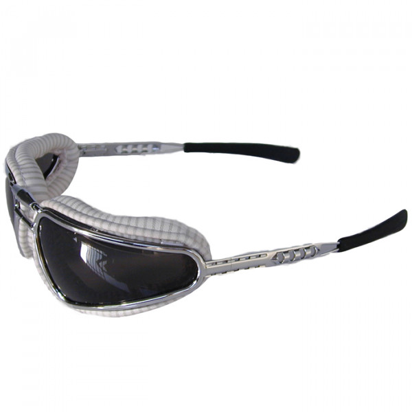 White Rigged Easy Rider Baruffaldi Motorcycle Glasses