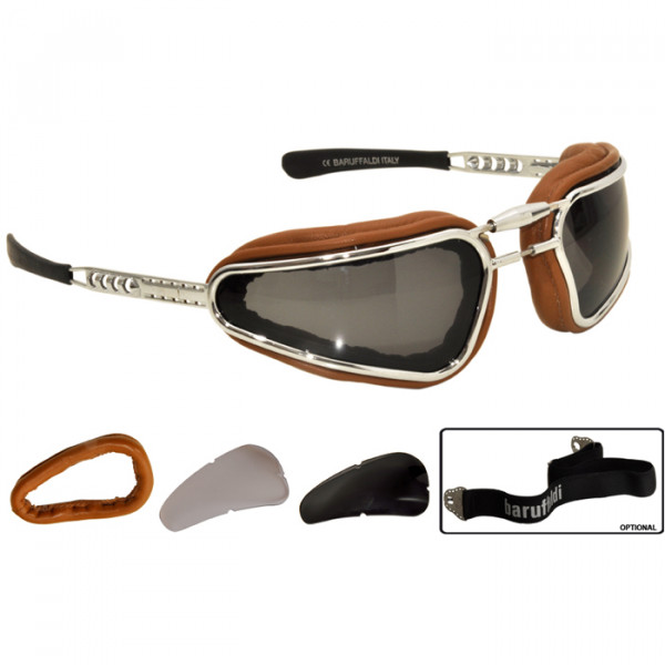 Motorcycle Eyewear Baruffaldi Easy Rider Leather